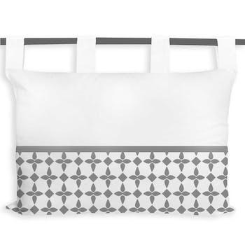 Tête de lit damier blanc 45x70cm