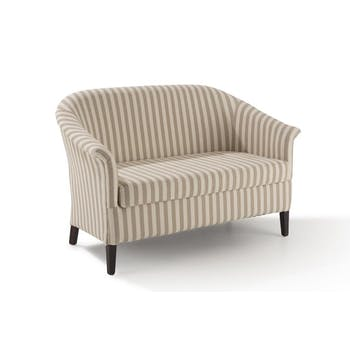 Banquette cabriolet 2 places lin rayures creme MIRA