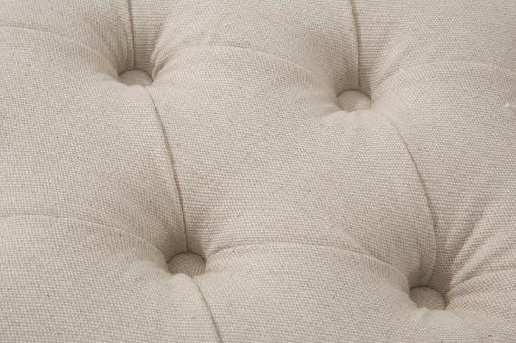 Banc / Méridienne capitonné(e) tissu lin et coton écru BUTTON