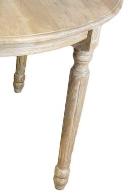 Table à manger extensible Classique chic Chêne massif 120/320cm MEDICIS