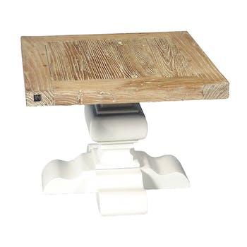 Table d'appoint carrée Orme et Chêne massif 60x60x45 TWIST