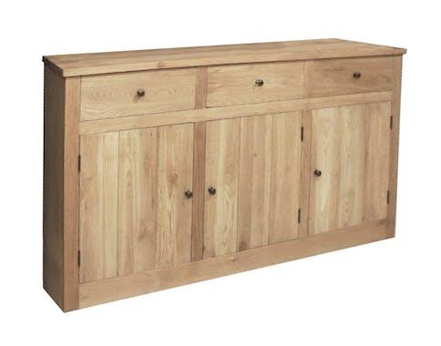 Buffet 3 portes 3 tiroirs Chêne massif 166x50x92 ALINE