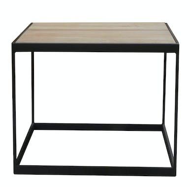 Table d'appoint Bout de Canapé chêne massif métal SOOMAA réf 30020859