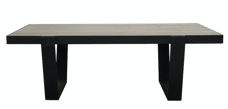 Table basse chêne massif métal SOOMAA réf 30020862