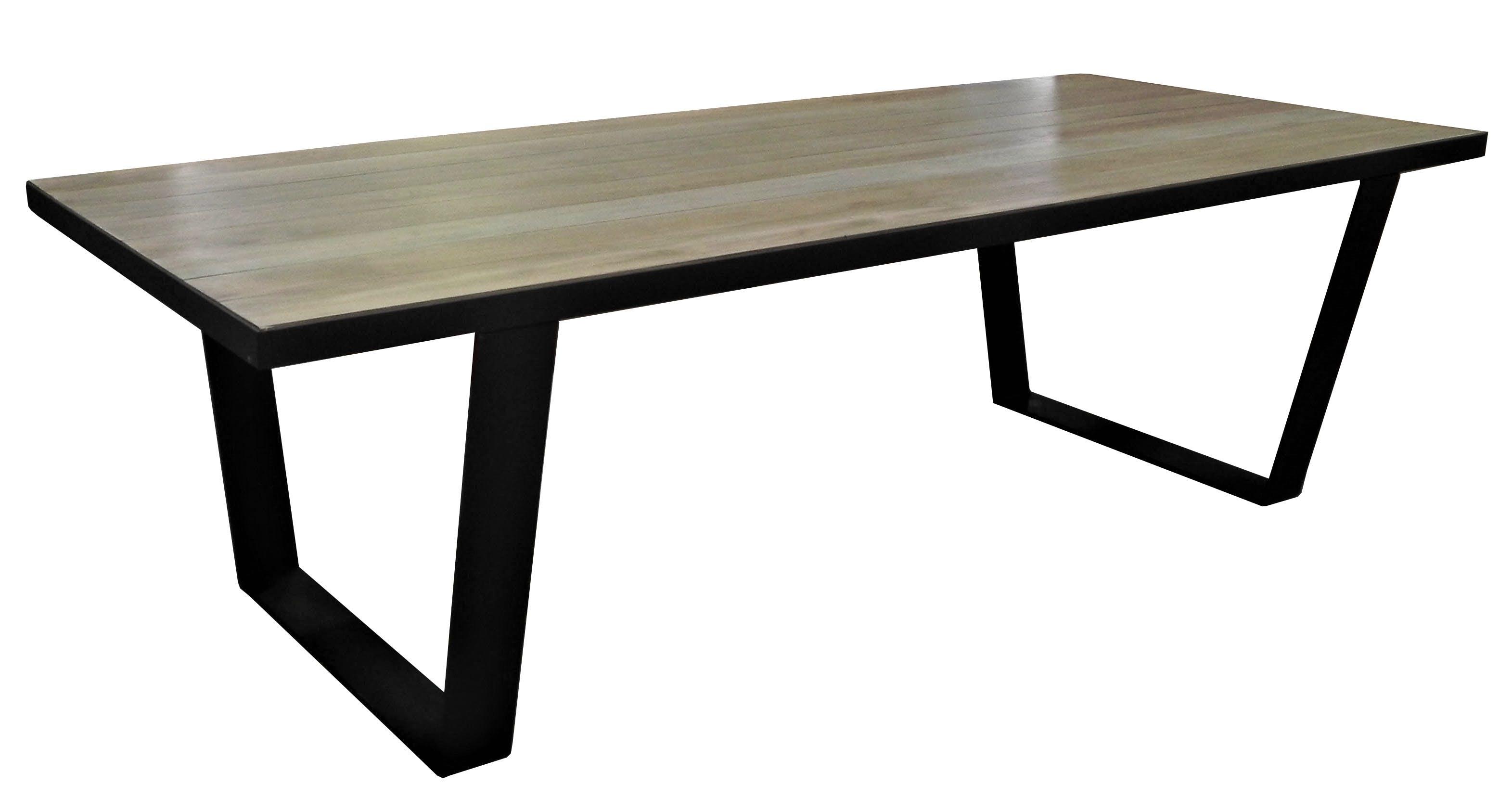 Table à manger 260cm chêne massif métal SOOMAA réf 30020871