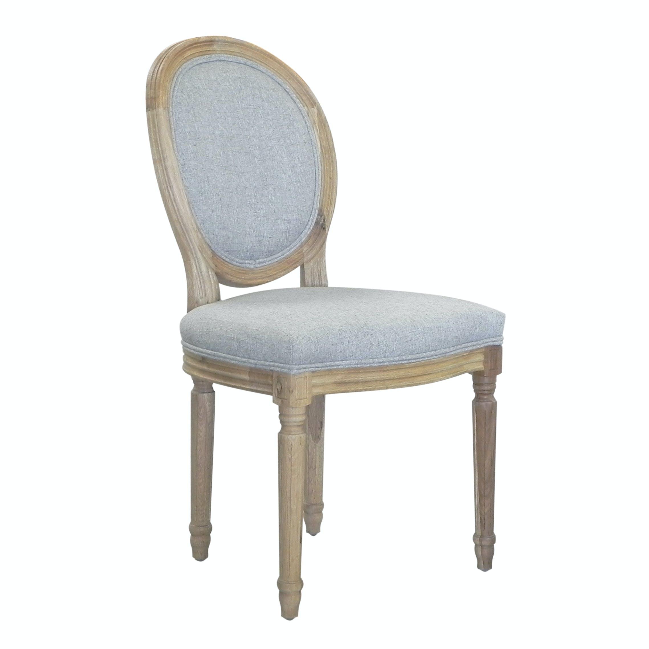 Chaise médaillon tissu gris MEDICIS réf 30020881