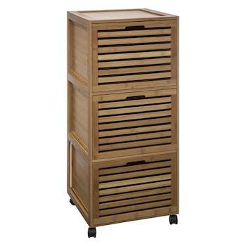 Meuble en bambou 3 tiroirs H91cm