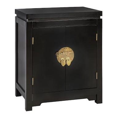Table de chevet asiatique noire