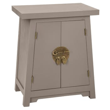 Table de chevet asiatique taupe