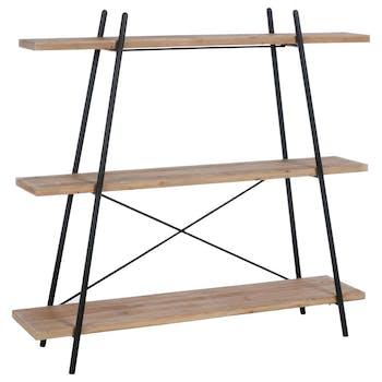 Etagère 3 étages bois métal H179cm