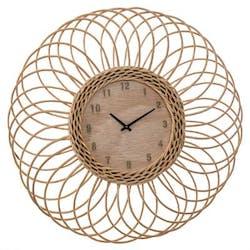 Horloge rotin rosace D58cm