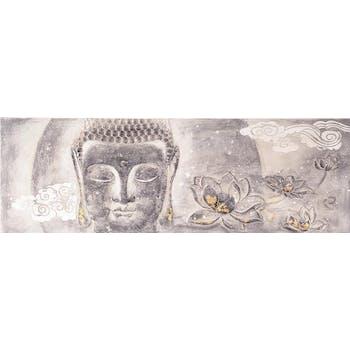 Toile en relief Bouddha marron 60x180cm