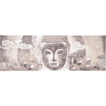 Toile en relief Bouddha gris 60x180cm