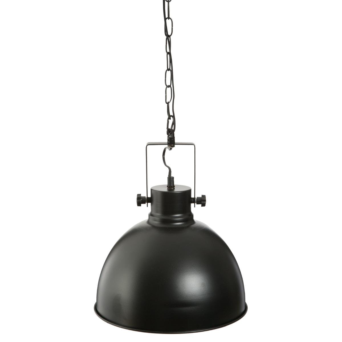 Suspension ronde métal noir D30cm