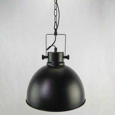 Suspension ronde métal noir D30cm