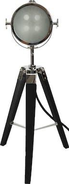 Lampe cinéma bois métal H68cm