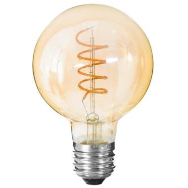 Ampoule LED vintage boule torsade ambre