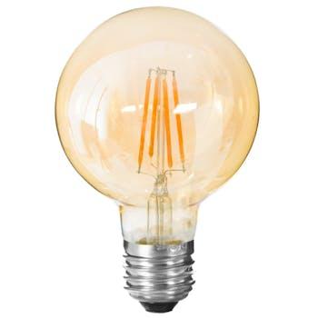 Ampoule LED vintage globe ambre