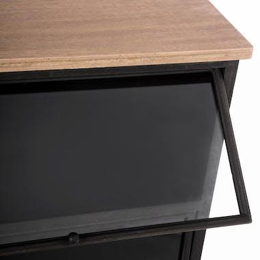Commode métal noir 3 tiroirs