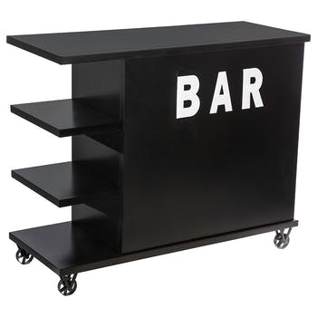 Bar industriel métal noir RALF