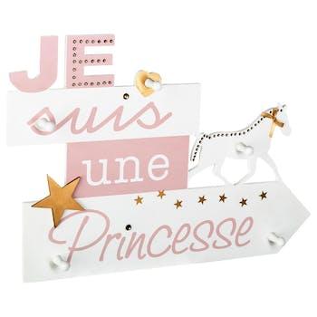 Patère princesse 5 crochets