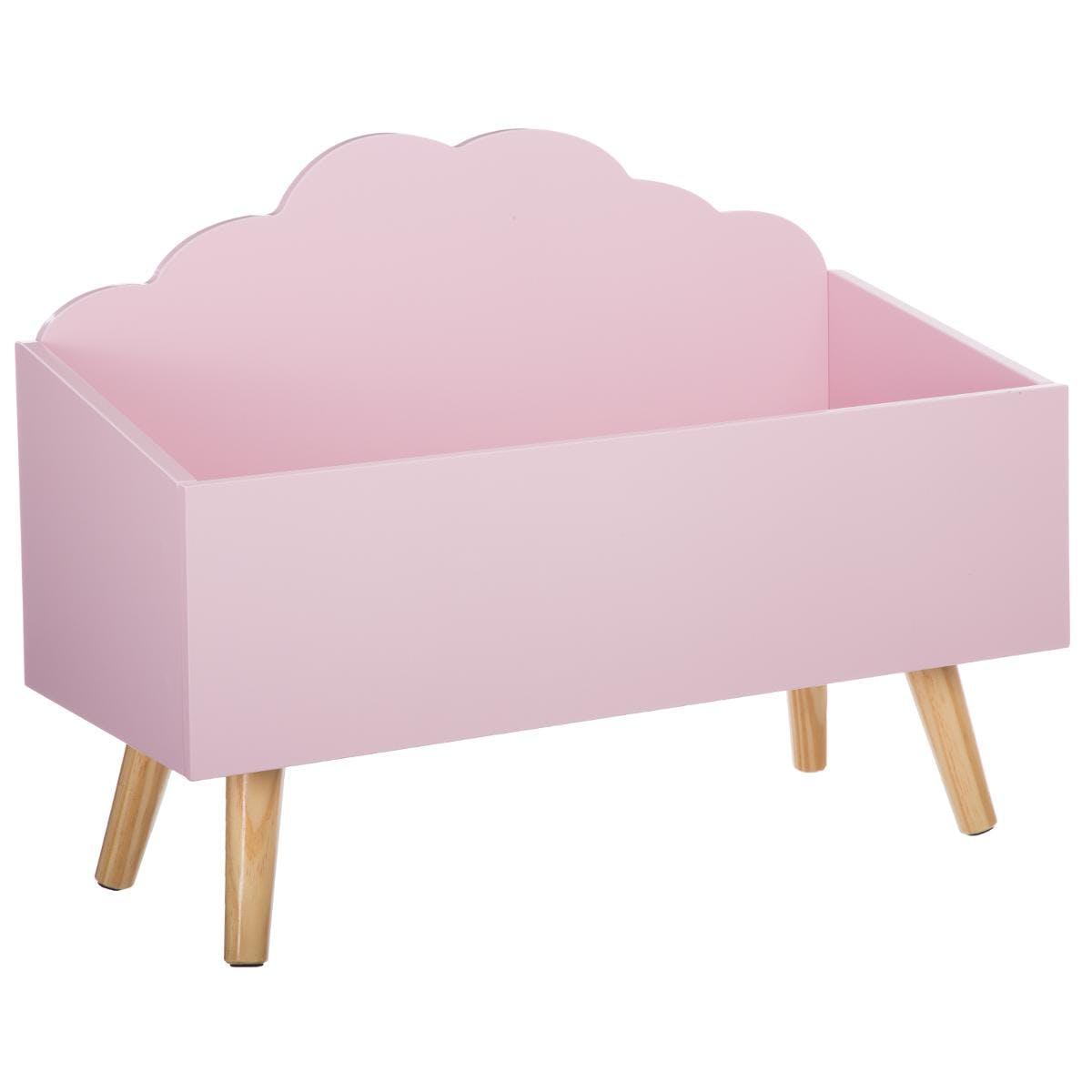 Coffre ouvert nuage rose