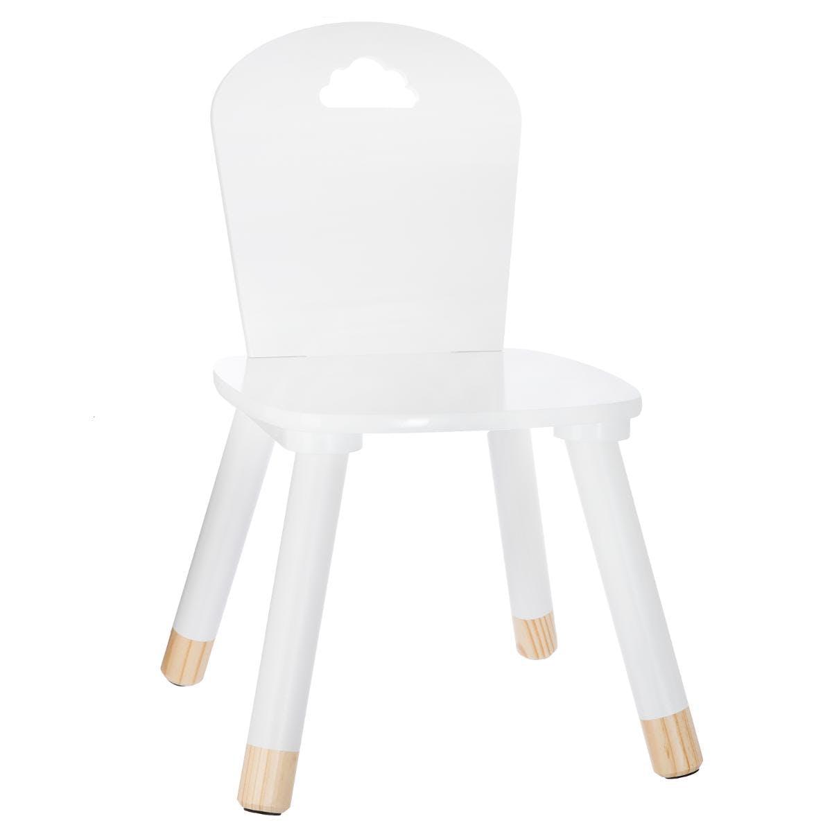 Chaise en bois enfant blanche