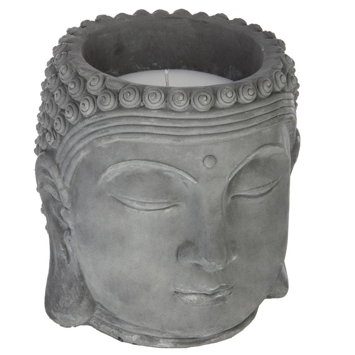Bougie en pot Bouddha parfum citronnelle