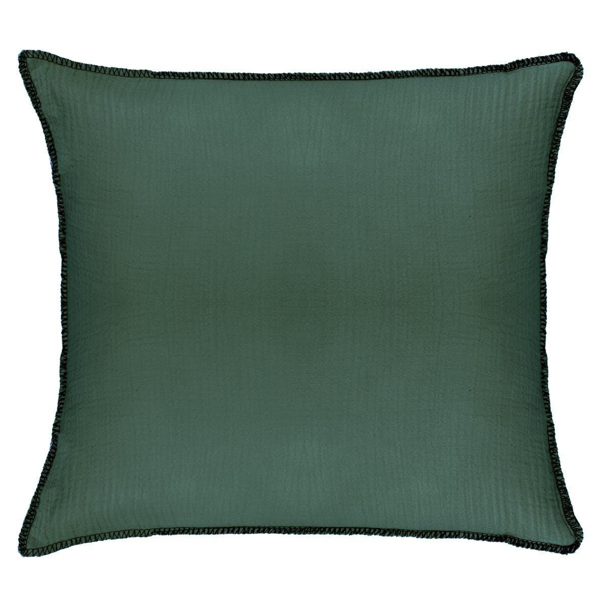Coussin surpiqure vert cèdre