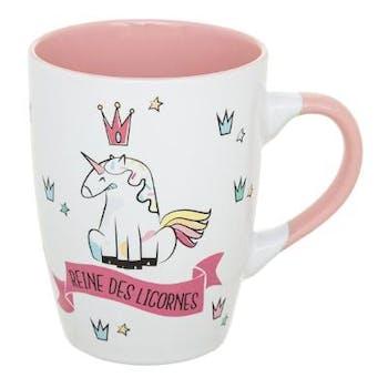 Mug Reine des licornes rose