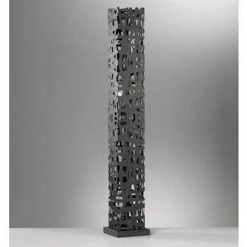 Lampe colonne décorative métal découpé noir