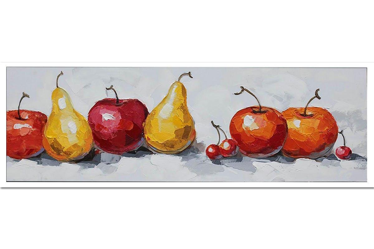 Tableau Fruits colorés toile sur cadre 50x150cm