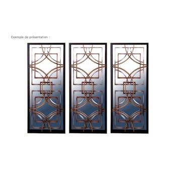 Miroir décor Arcs en métal couleur cuivrée 30,5x76cm