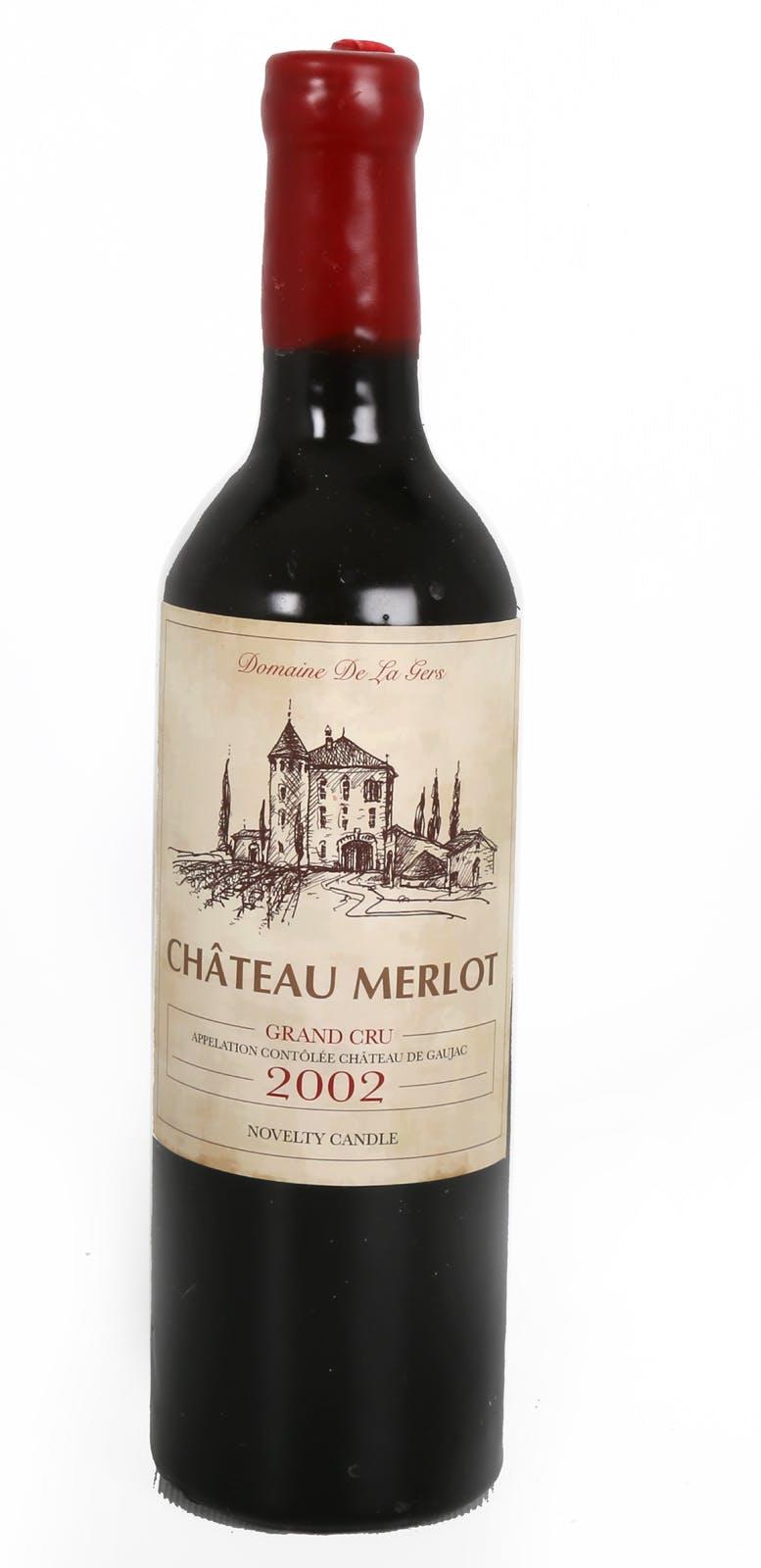 Bougie en forme de bouteille de vin rouge D7,2xH28,5cm