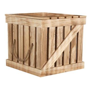 Malle en bois façon cagette Moyen modèle