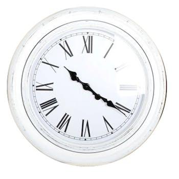 Horloge ronde blanche style antique D58,5x6cm