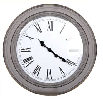 Horloge ronde couleur taupe style antique D58,5x6cm