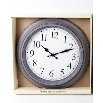 Horloge ronde rétro grise D40cm