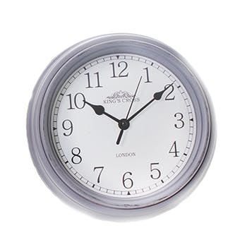 "Horloge ronde grise ""King's Cross London"" D23,4cm"