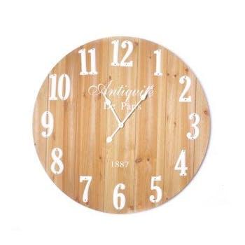 Horloge ronde bois naturel D80cm