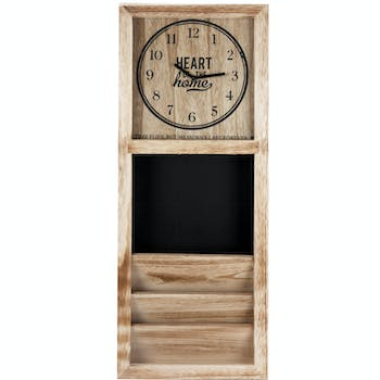 "Horloge Rangement en bois ""Heart of the Home"" H75cm"