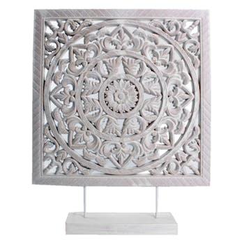 Arabesque d'Ornement en bois blanc sur pied H40cm