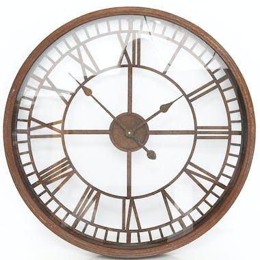 Horloge style rustique en métal ajouré D67cm