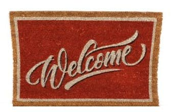 "Paillasson ""Welcome"" en coco 60x40cm"