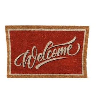 "Paillasson ""Welcome"" en coco 60x40cm"