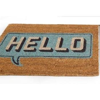 """Paillasson """"Hello"""" en coco 60x40cm"""