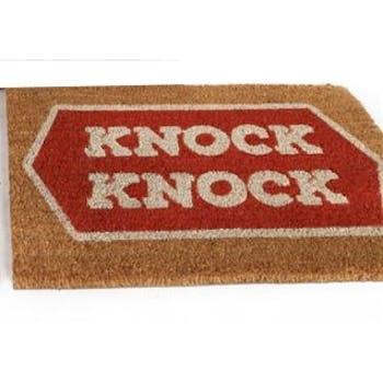 "Paillasson ""Knock Knock"" en coco 60x40cm"