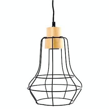 Lampe Suspension forme Poire en métal noir H30cm
