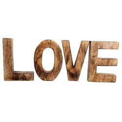 """Lettres déco """"LOVE"""" en bois 20x14cm"""