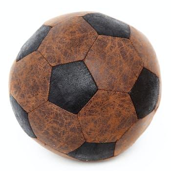 Bloc-Porte Ballon de Football en tissu façon simili vieilli D20cm